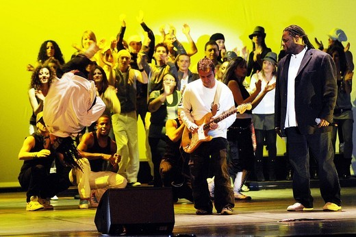stand up! a gospel revolution ,milano 16_12_2008 ,photo barbaglia/markanews : Stock Photo