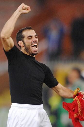 claudio bellucci,genova 18_12_2008 ,football uefa cup 2008_2009 ,sampdoria_siviglia 1_0 ,photo alessandro pintimalli/markanews : Stock Photo