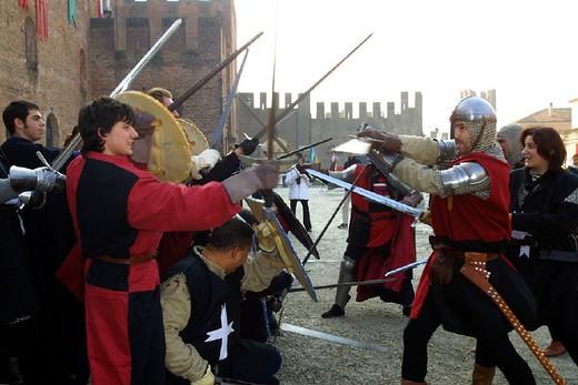 italy, veneto, montagnana, historical recalling : Stock Photo