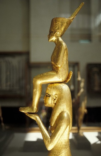 Stock Photo: 3153-672911 little statue, tutankhamun´s tomb, cairo, egypt