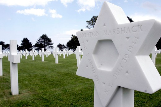 american cemetery of colleville, france : Stock Photo