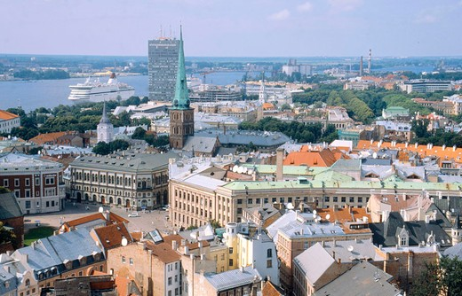 europe, latvia, riga, old city, landscape : Stock Photo