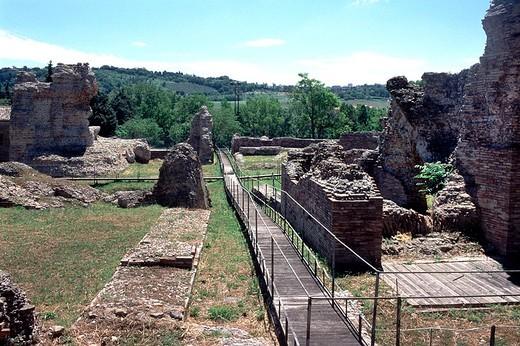 europe, italy, marche, helvia recina archeological site : Stock Photo