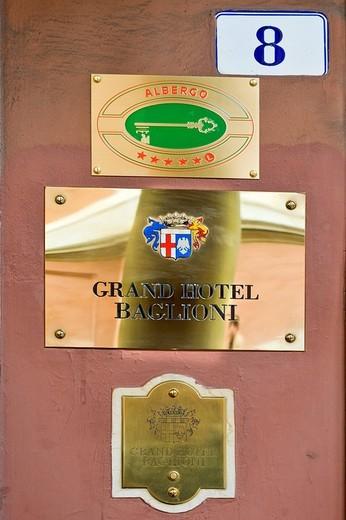 gran hotel baglioni, bologna, emilia romagna, italy : Stock Photo