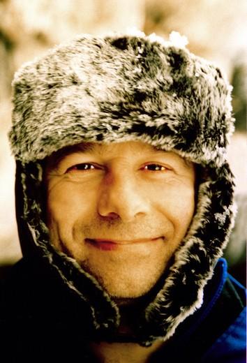 man, fur hat : Stock Photo