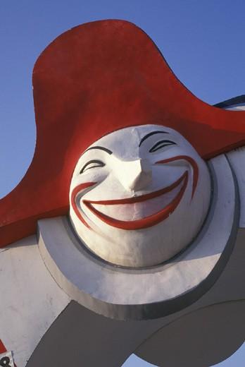 Stock Photo: 3153-674973 mask symbol of the carnival, viareggio, italy