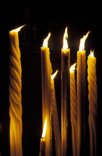 st. sebastian feast/candles, acireale, italy : Stock Photo