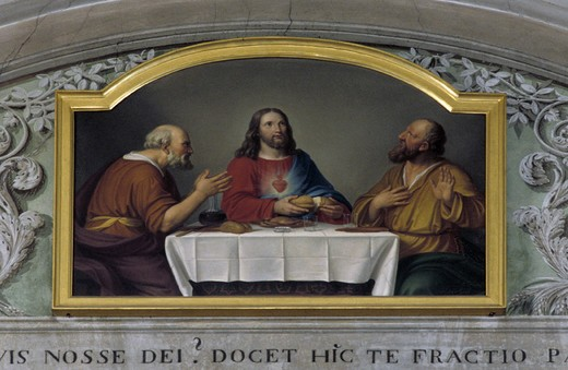 visitation convent, supper at emmaus,unknown, alzano lombardo, italy : Stock Photo