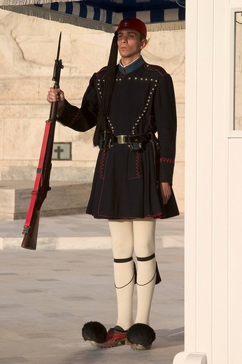Stock Photo: 3153-675413 europe, greece, athens,parliament building, changing of the guard