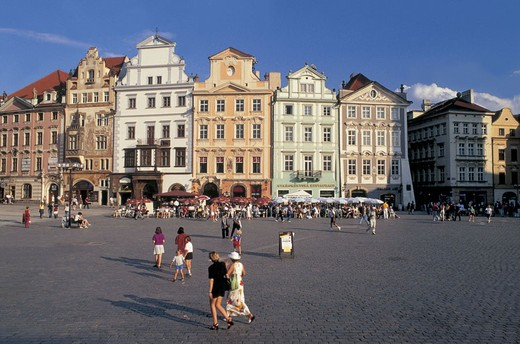 czech republic, prague, staromestske namesti square : Stock Photo
