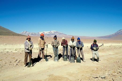 bolivia, workers : Stock Photo