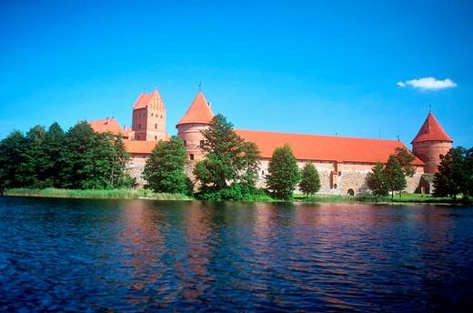 Stock Photo: 3153-679461 europe, lithuania, trakai, galvè lake