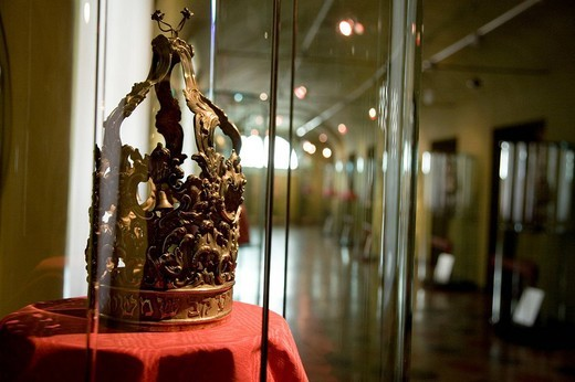 Stock Photo: 3153-679805 crown, jewish museum, synagogue, casale monferrato, piedmont, italy