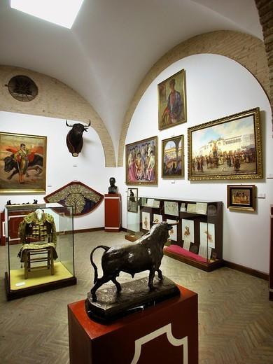 Stock Photo: 3153-680170 bullfighting museum, plaza de toros, sevilla, andalusia, spain