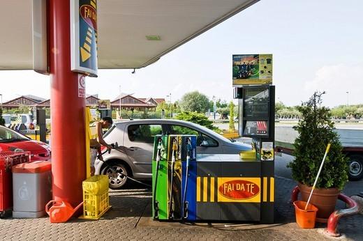 Stock Photo: 3153-680246 petrol station