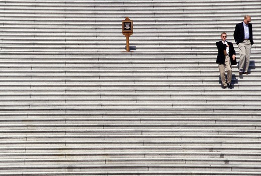 usa, washington d.c., on the steps of the capitol : Stock Photo
