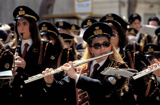 Stock Photo: 3153-682410 trapani, during the holy procession, sicily, italy