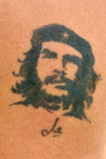 tatuaggio del che, l´avana, cuba : Stock Photo