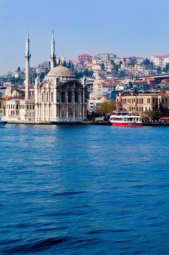 asia, turkey, istanbul, mosque of ortakoy : Stock Photo