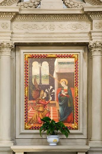 europe, italy, emilia romagna, bagno di romagna, basilica di santa maria assunta : Stock Photo