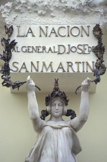 st. martin monument, lima, peru : Stock Photo
