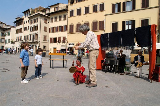 italy, tuscany, florence, street artist : Stock Photo