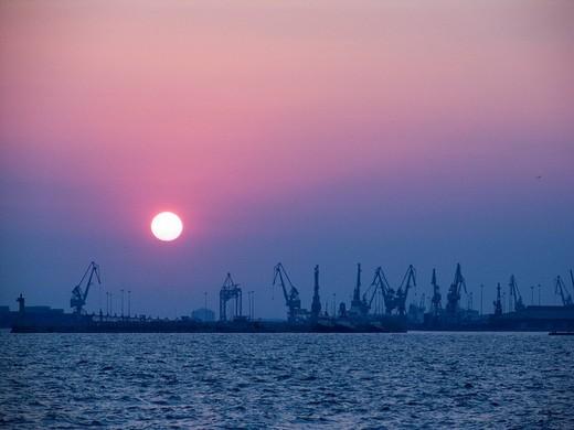 port, thessaloniki, macedonia, greece : Stock Photo