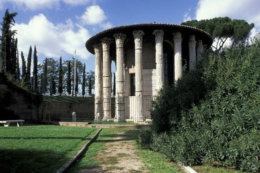 Stock Photo: 3153-686773 vesta temple, rome, italy