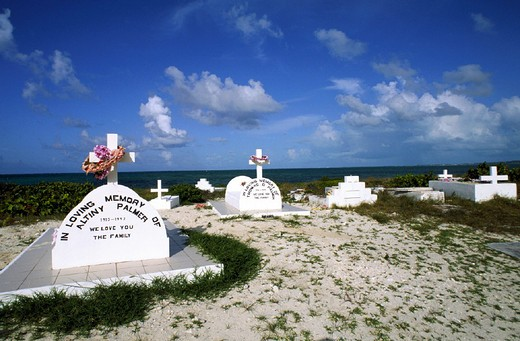 cemetery, turks and caicos providenciales, caribbean : Stock Photo