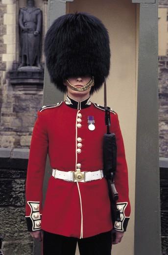 scotland, edinburgh, royal guard : Stock Photo