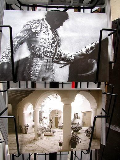 postcards, sevilla, andalusia, spain : Stock Photo