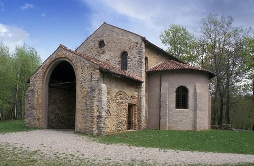 st. maria foris portas church, castelseprio, italy : Stock Photo