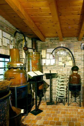 europe, italy, veneto, polesine, mantovani distillery : Stock Photo