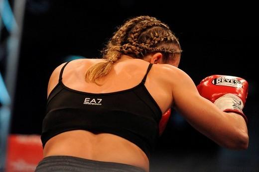 Stock Photo: 3153-693759 stefania bianchini,milano 24_10_2008,world championship WBC women flyweight,photo paolo bona/markanews,