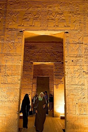 Stock Photo: 3153-694172 tempio dedicato ad iside, philae, egitto