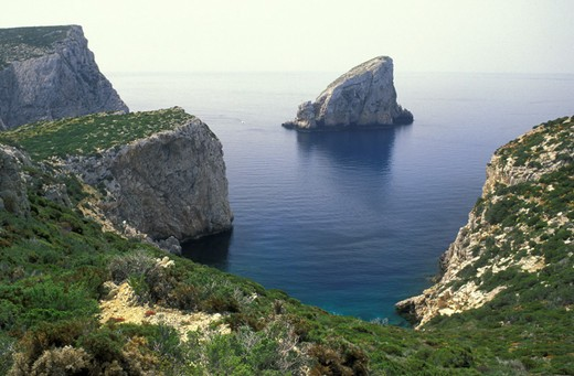 capo caccia cliff, alghero, italy : Stock Photo