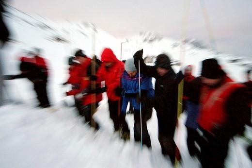 Stock Photo: 3153-695560 alpine rescue