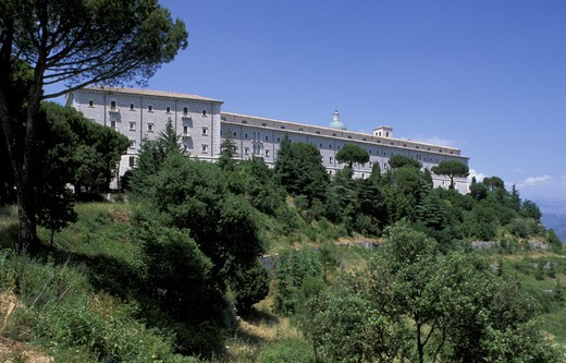 montecassino abbey, cassino, italy : Stock Photo
