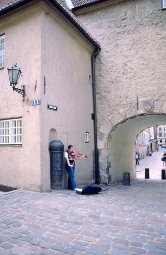 europe, latvia, riga, sweden gate, torna street : Stock Photo