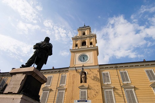 piazza garibaldi, palace of the governor, parma, emilia romagna, italy : Stock Photo