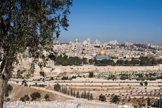 panorama sulla città vecchia, gerusalemme, israele : Stock Photo