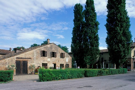 giuseppe verdi native house, busseto roncole, italy : Stock Photo