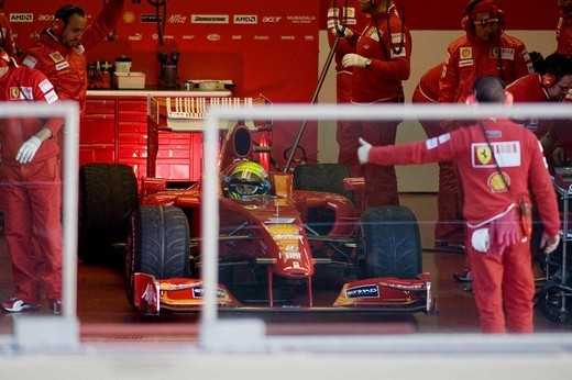 Stock Photo: 3153-699725 felipe massa,mugello 12_01_2009,new ferrari f60,photo damiano fiorentini/markanews