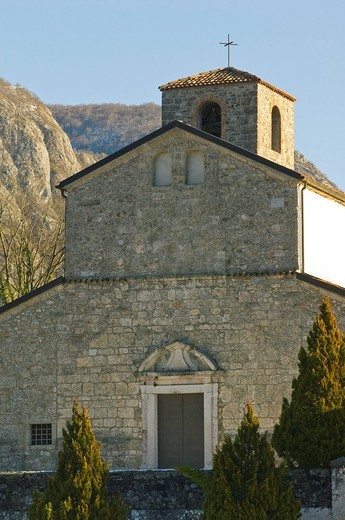 Stock Photo: 3153-700537 santa maria maddalena church, invillino, italy