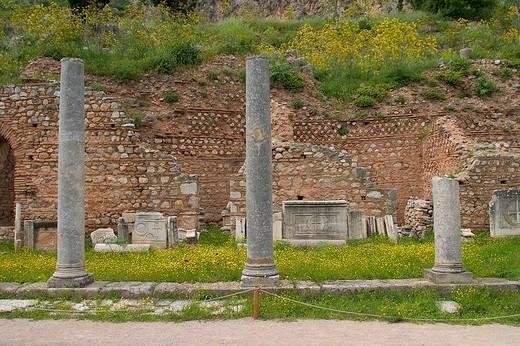 greece, delphi, archeological area, arkadians : Stock Photo