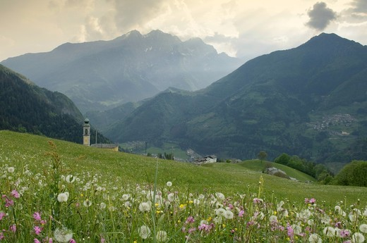 boario church, gromo spiazzi, italy : Stock Photo