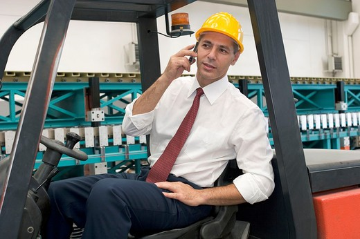 manager in warehouse : Stock Photo