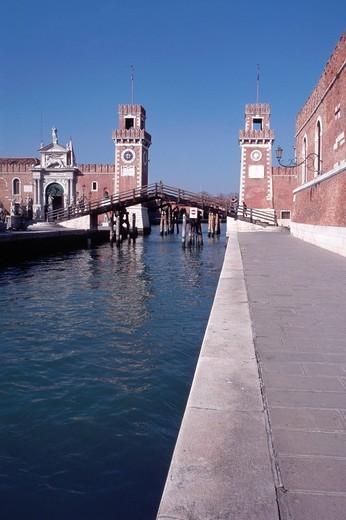 Stock Photo: 3153-703524 venetian arsenal, venice, veneto, italy