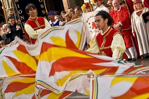 historical recalling, san nicolas day, castelfranco emilia, emilia romagna, italia : Stock Photo