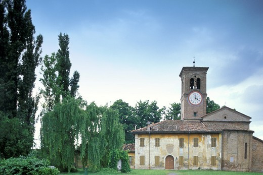st. michael church, busseto, italy : Stock Photo